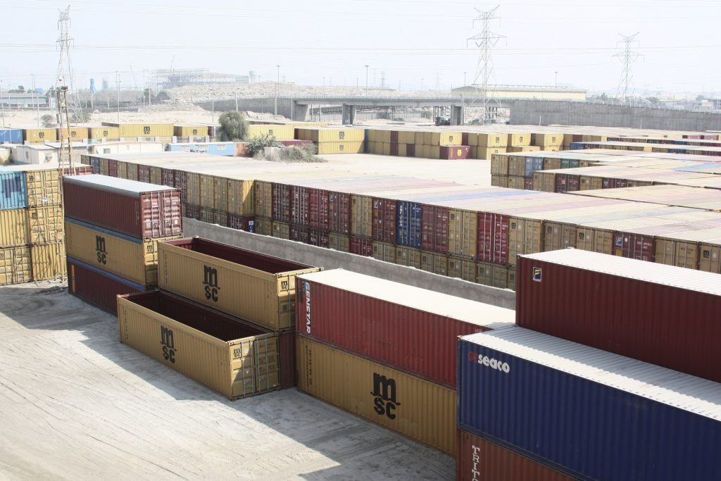 Containers at AARAX Trading